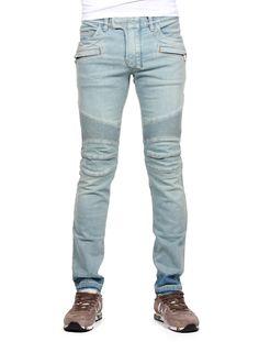 Pantalon jean blanc homme