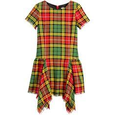 Junior Gaultier Girls Red, Green & Yellow Tartan Check Dress at Childrensalon.com