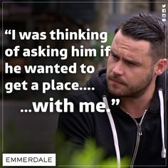 lol that is EXACTLY how he said it tho.one of my fav convos b/t him and adam too Aaron Livesy, Emmerdale Actors, Danny Miller, Robert Ryan, Soap Stars, How I Feel, Grease, Favorite Tv Shows, Soaps