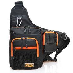 Waterproof Fishing Tackle Backpacks | Piscifun® Sports Shoulder Bag Fishing Tackle Bag Crossbody Messenger Sling Bags