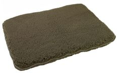 Unreal Lambskin Brute Synthetic Fleece Dog Bed Olive Large -- To view further for this item, visit the image link.