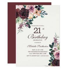 510 21st birthday party invitations