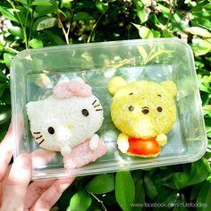 Hello Kitty & Winnie the Pooh rice balls by Pax❤️Cute Food (@peaceloving_pax)
