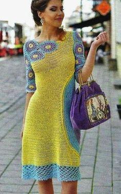 Interesting way to crochet a dress More