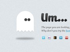 ghost 404 page design by Emil NIkov