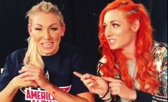 Charlotte Flair and Becky Lynch share some invisible tea backstage at SmackDown Live Nxt Divas, Rebecca Quin, Wwe Girls, Charlotte Flair, Royal Rumble, Wrestling News, Wwe Womens, Becky Lynch, Wwe News