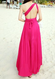 Magic Maxi Dress - Hot Pink2