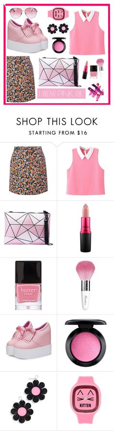 """""""Pink"""" by geiginana ❤ liked on Polyvore featuring Dorothy Perkins, WithChic, MAC Cosmetics, Butter London, Guerlain, Marina Fini, Minnie Rose and IWearPinkFor"""