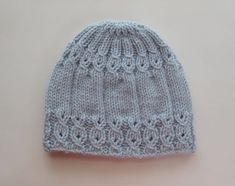 Knitting Pattern 114 Blue Hat with Mock Cables for a Lady Knitting Pattern White and Pink Hat in Sizes 12 months and years PDF 150 Strickanleitung Adele to Slouchy von WomanOnTheWater - Strick Mützen the online pattern store Baby Hats Knitting, Baby Knitting Patterns, Knitted Hats, Crochet Patterns, Knitting Ideas, Free Knitting, Knit Crochet, Crochet Hats, Baby Girl Patterns