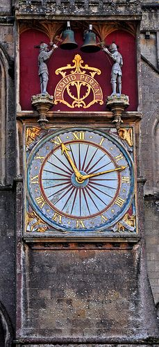 Clock, Wells Cathedral, Somerset, England, UK - by Phajus