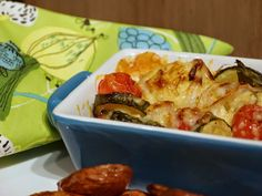 Cauliflower, courgette and tomato bake