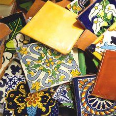 Talavera Tile Collection - Broken Talavera Tile