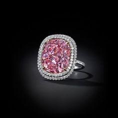 Christie's Fancy Vivid pink diamond ring