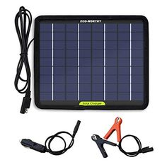 Eco Worthy 12 Volts 5 Watts Portable Power Solar Panel Battery Charger Backup For Car Boat Batter Solar Panel Charger Solar Panel Battery Solar Battery Charger