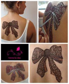 cool henna bow
