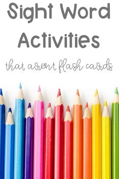 Are you stuck teaching sight words in the same way, using flash cards? Check out these engaging sight word activities that aren't sight words!