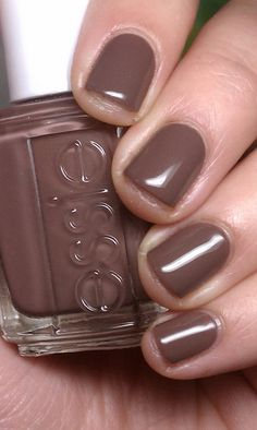 Today's manicure, Hot Coco by Essie. I wear this one a lot.