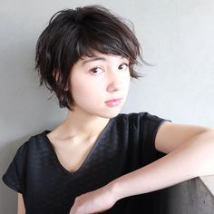 アレンジ自在な  ダブルバングショート ボジコをつけてコネコネしよう!  @chiapoko …model✨  HAIR… @nanuk_takahashi.buri  MAKE… @knn0418  #nanuktakahashi #nanukhair #黒髪#前髪#ショートヘア