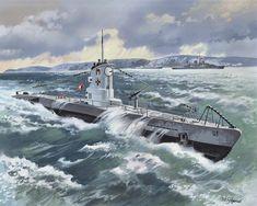 U-9, a type IIB submarine.