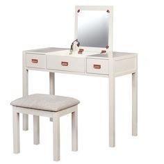 Audrey Vanity Set - White - Linon : Target