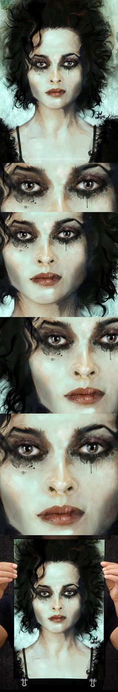 In the Fight Club! with Helena Bonham (Marla Singer) by Vlad Rodriguez, via Behance