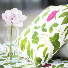 Botanica Swedish Floral fabric - green - Ljungbergs Factory
