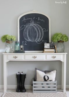 Fall Is Coming! {A Fall Chalkboard Idea} - House by Hoff