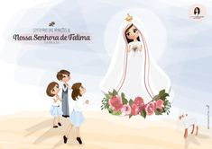 Blessed Mother Mary, Blessed Virgin Mary, Mother Mary Pictures, Lady Of Fatima, Jesus Faith, First Communion, Gods Love, Paper Art, Backdrops