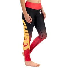 Women's Kansas City Chiefs Klew Red Gradient Leggings