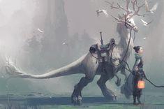 Mythical Creatures Art, Mythological Creatures, Magical Creatures, Fantasy Creatures, Dark Fantasy, Fantasy World, Creature Concept Art, Creature Design, Fantasy Character Design
