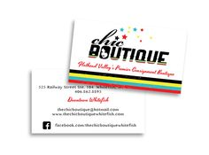 Business Cards for Chic Boutique    http://www.artsygeek.com/services/branding-print-design/