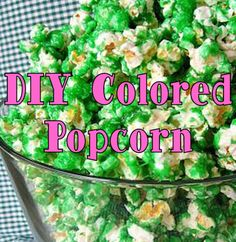 How to make your own Colored Popcorn #PreppyPlanner