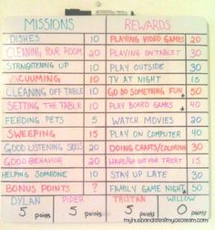 How I got my kids to beg to do chores - chore chart by simone