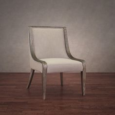 245 Adriana Beige Linen Dining Chair   Overstock.com Shopping - Great Deals on Dining Chairs