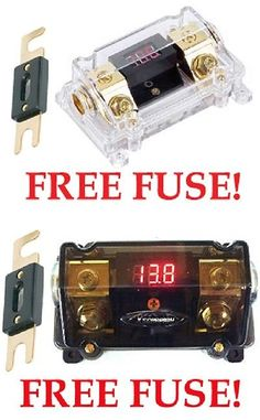 fuses and fuse holders blue sea 5033 st blade fuse block w out fuses and fuse holders premium gold 0 2 4 gauge digital anl fuse holder voltage