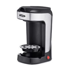 BELLA One Scoop Single Serve Personal Coffee and Tea Maker, color stainless steel and black Espresso Maker, Espresso Cups, Espresso Machine, Single Cup Coffee Maker, Single Serve Coffee, K Cups, Best Coffee, Coffee Coffee, Drip Coffee