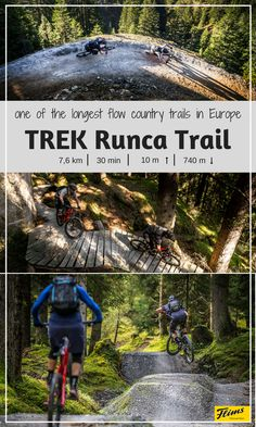 The longest flow country biketrail in Europe: TREK Runca Trail. A must-do adventure in the Swiss alps for every mountainbiker. Clear Lake, Swiss Alps, Mountain Biking, Trek, Scenery, Tours, Explore, Adventure, Landscape