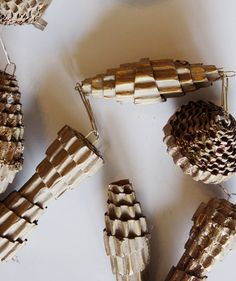 Craft Cardboard Pinecones | Deck the halls like an expert with these clever, easy—and surprisingly affordable—ideas.