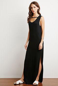 High-Slit Cutout Maxi Dress | Forever 21 - 2000140466