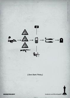Zero Dark Thirty, New Pictogram Posters of Oscar's Best Picture Nominees - My Modern Metropolis