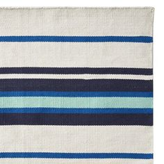 Strata Stripe Indoor/Outdoor Rug Swatch, Navy