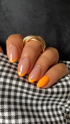 Cute Gel Nails, Funky Nails, Dope Nails, Swag Nails, Almond Acrylic Nails, Best Acrylic Nails, Fall Almond Nails, Rounded Acrylic Nails, Cute Almond Nails