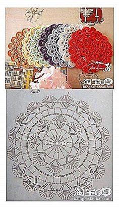 Crochet coasters diagram ganchillo 54 ideas for 2019 Crochet Coaster Pattern, Crochet Mandala Pattern, Crochet Circles, Crochet Doily Patterns, Crochet Chart, Crochet Diagram, Crochet Squares, Thread Crochet, Diy Crochet