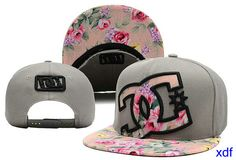 Student gorras dc shoes snapback flor mujer-014