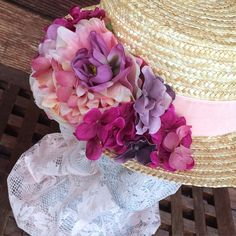 SnapWidget | ¡Disponible este canotier de flores!¡modelo único! Mas info en…