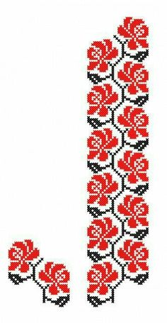 Cute Cross Stitch, Cross Stitch Borders, Cross Stitch Rose, Cross Stitch Flowers, Cross Stitch Designs, Cross Stitching, Cross Stitch Patterns, Ribbon Embroidery Tutorial, Border Embroidery Designs