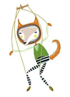 #illustration renard http://lespapierscolles.wordpress.com/2013/03/04/amy-blackwell/