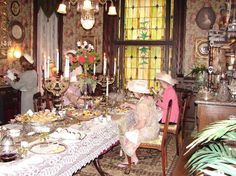 Victorian Dining Room | Victorian Society Tea Party At Stegmaier Dining Room