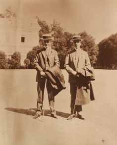 The 4th and 5th sons of Grand Duke Konstantine konstantinovich Romanov of Russia:Prince Oleg and Prince Igor Konstantinovich Romanov of Russia in 1910