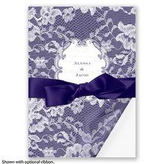 Lace Wrap - Marine - Invitation | Invitations By David's Bridal